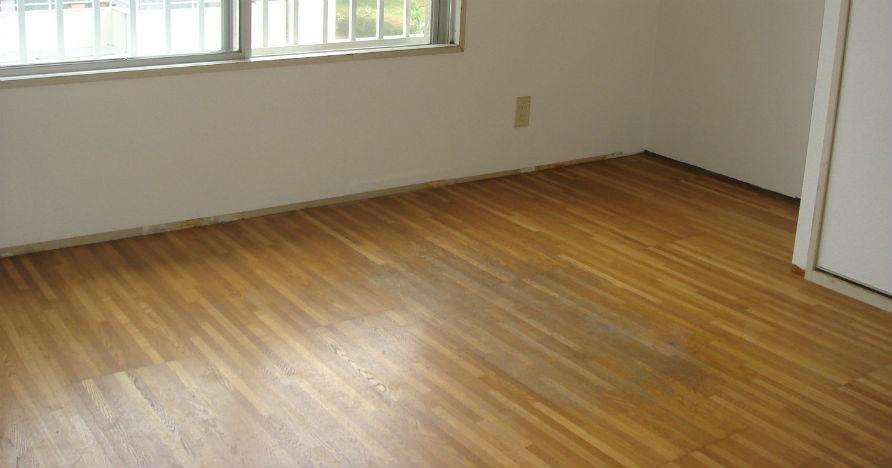 太陽焼けや物を置くことにより、床も変色します。